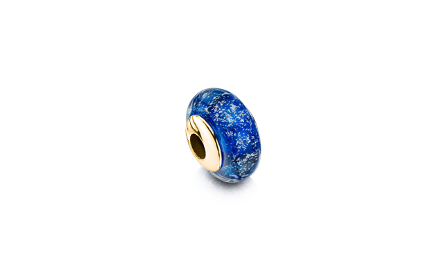 Charm Bead Blue Gold