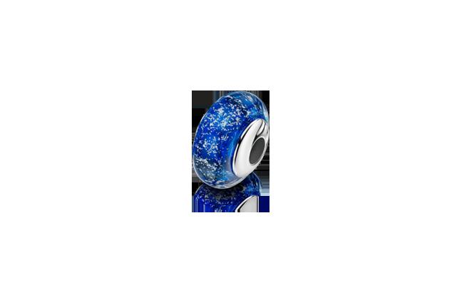 Charm Bead Blue Silver
