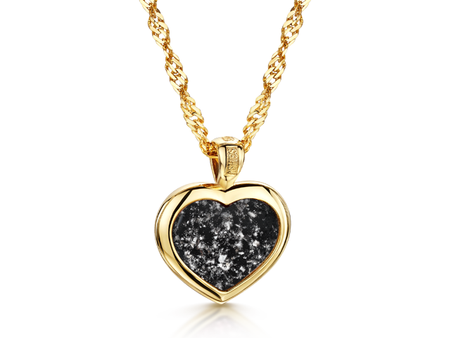 Heart Pendant Gold Black