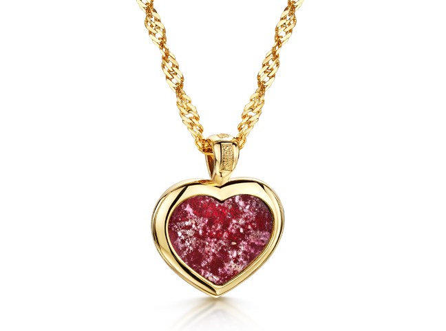 Heart Pendant Gold Ruby