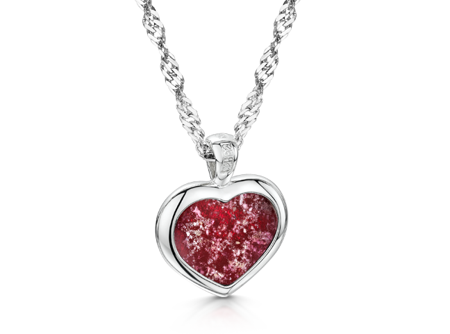 Heart Pendant White Gold Ruby