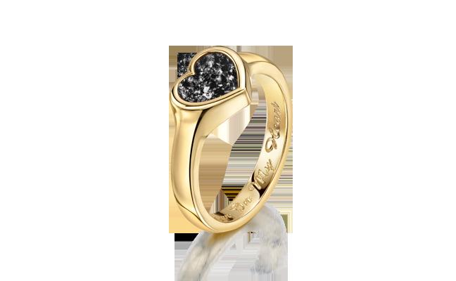 Heart Ring Gold Black