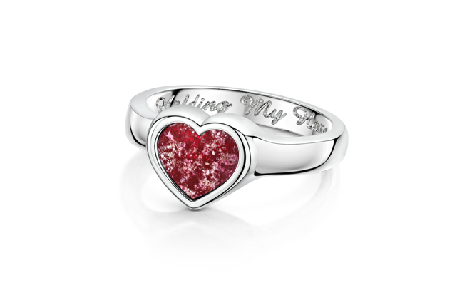 Heart Ring Silver Ruby