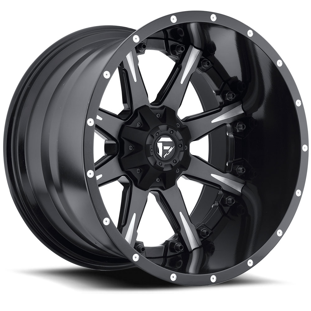Fuel Offroad Wheels Fuel Offroad D251 Nutz Black and Milled