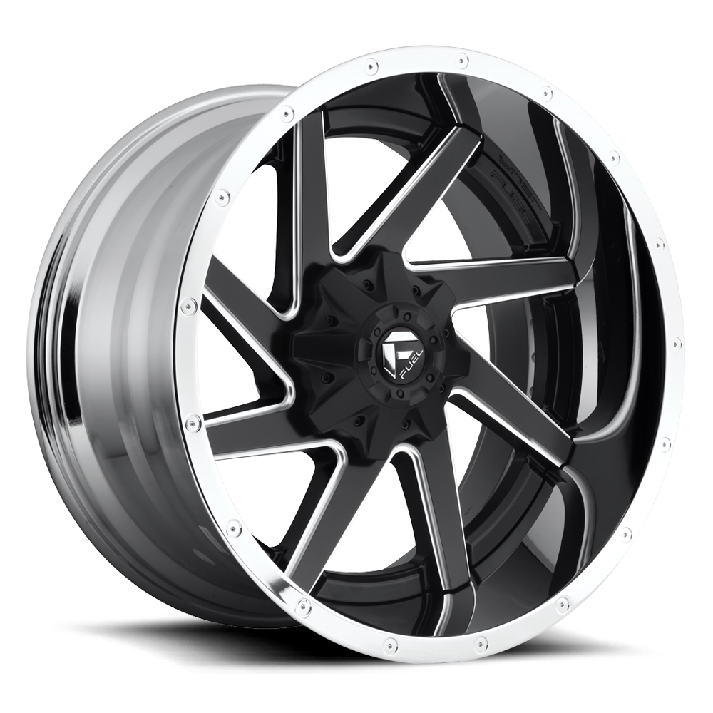 Fuel Offroad Wheels Fuel Offroad D264 Renegade Black and Milled