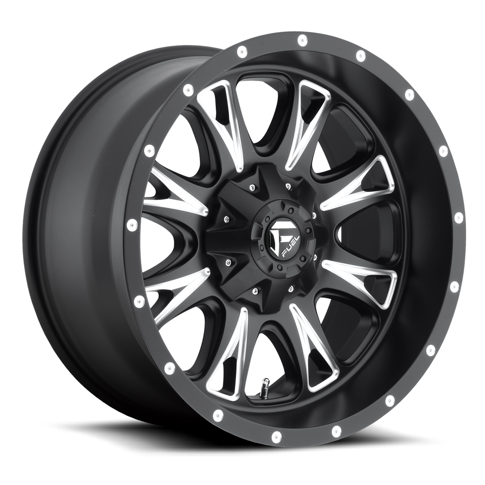 18x9 Fuel Offroad Wheels Fuel Offroad D513 Throttle Black and Milled