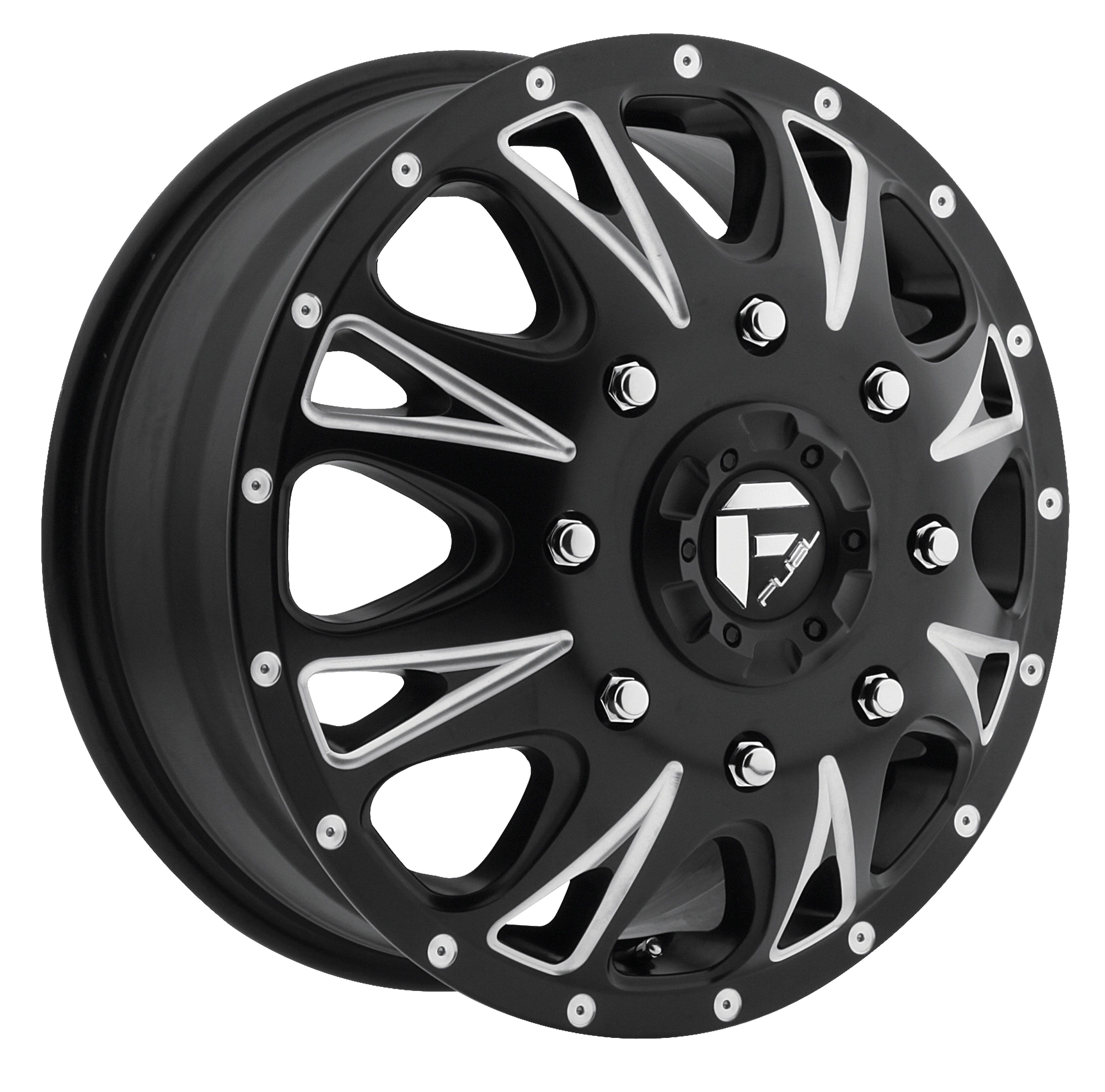 17x6.5 Fuel Offroad Wheels Fuel Offroad D513 Throttle Black and Milled