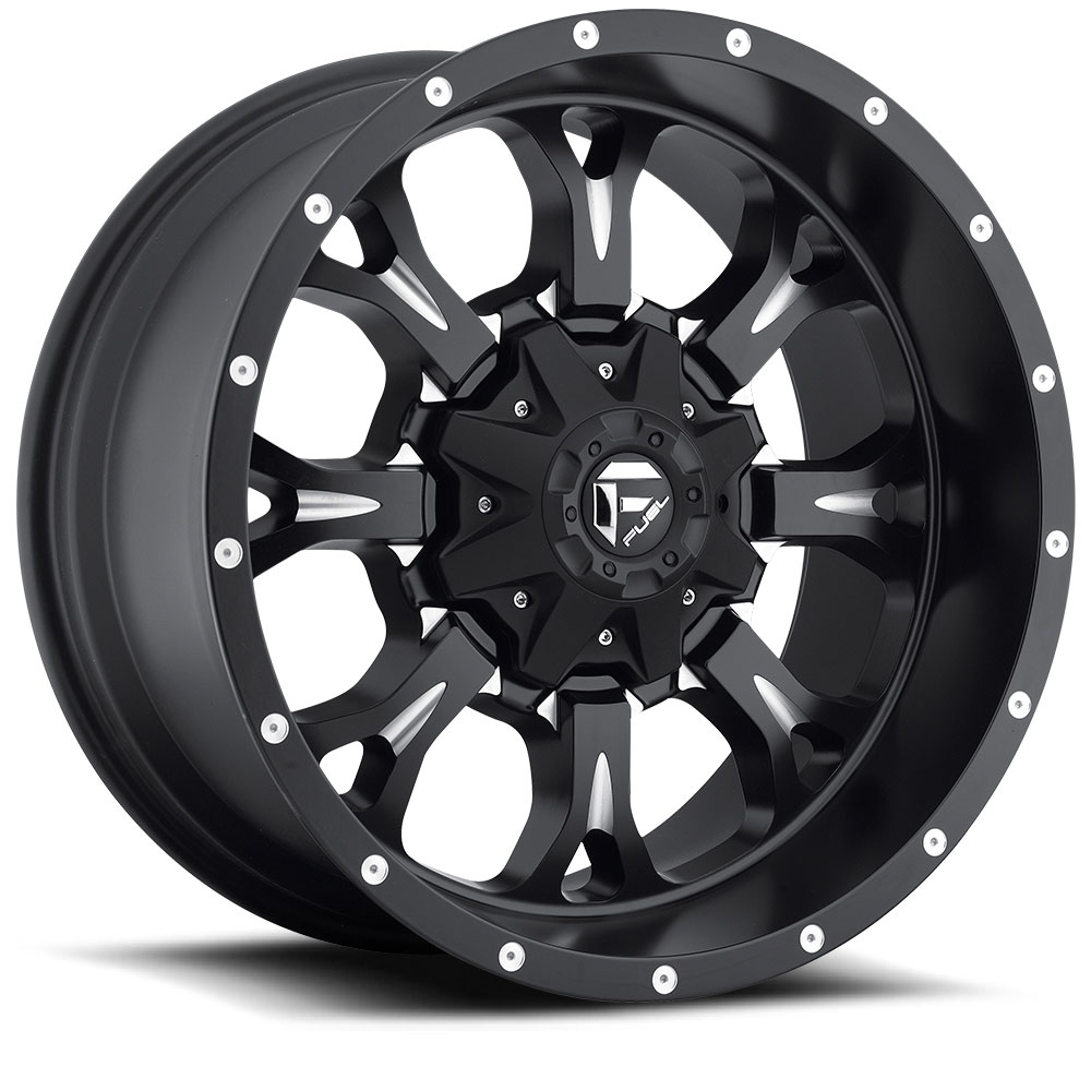 20x10 Fuel Offroad Wheels Fuel Offroad D517 Krank Black and Milled