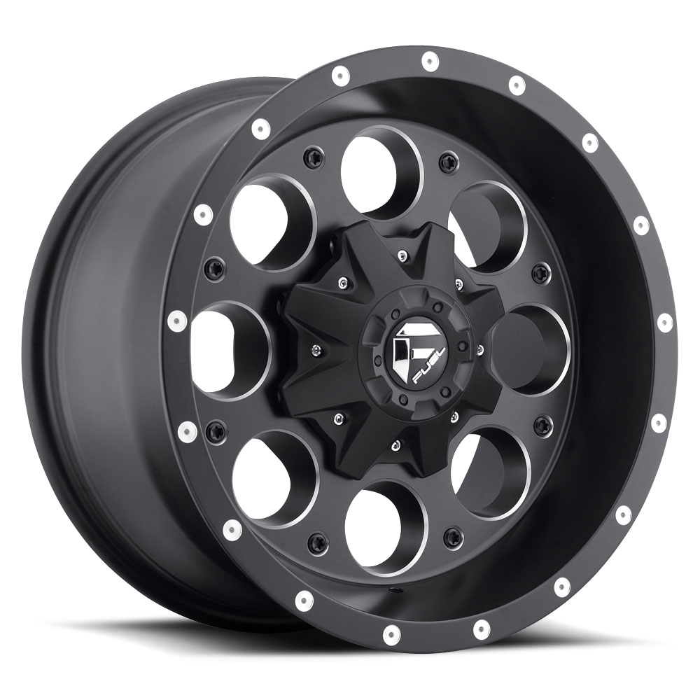 Fuel Offroad Wheels Fuel Offroad D525 Revolver Black and Milled