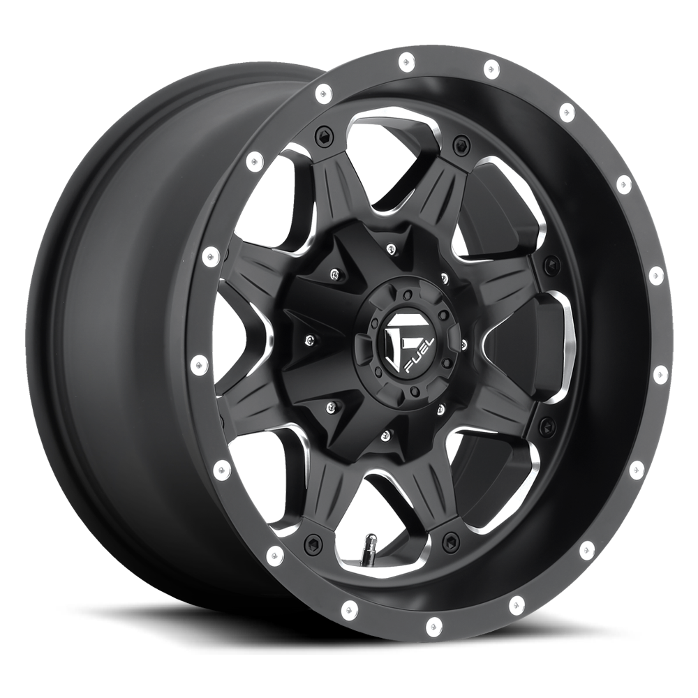 20x9 Fuel Offroad Wheels Fuel Offroad D534 Boost Black and Milled