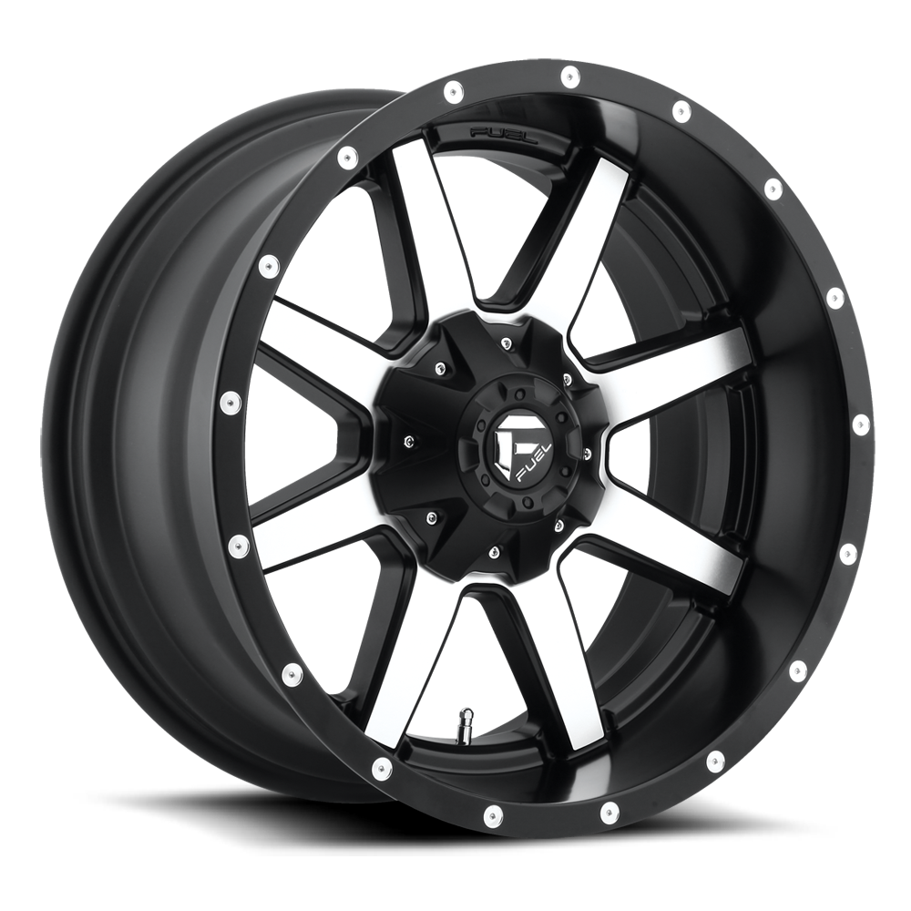 20x10 Fuel Offroad Wheels Fuel Offroad D537 Maverick Black/Machined