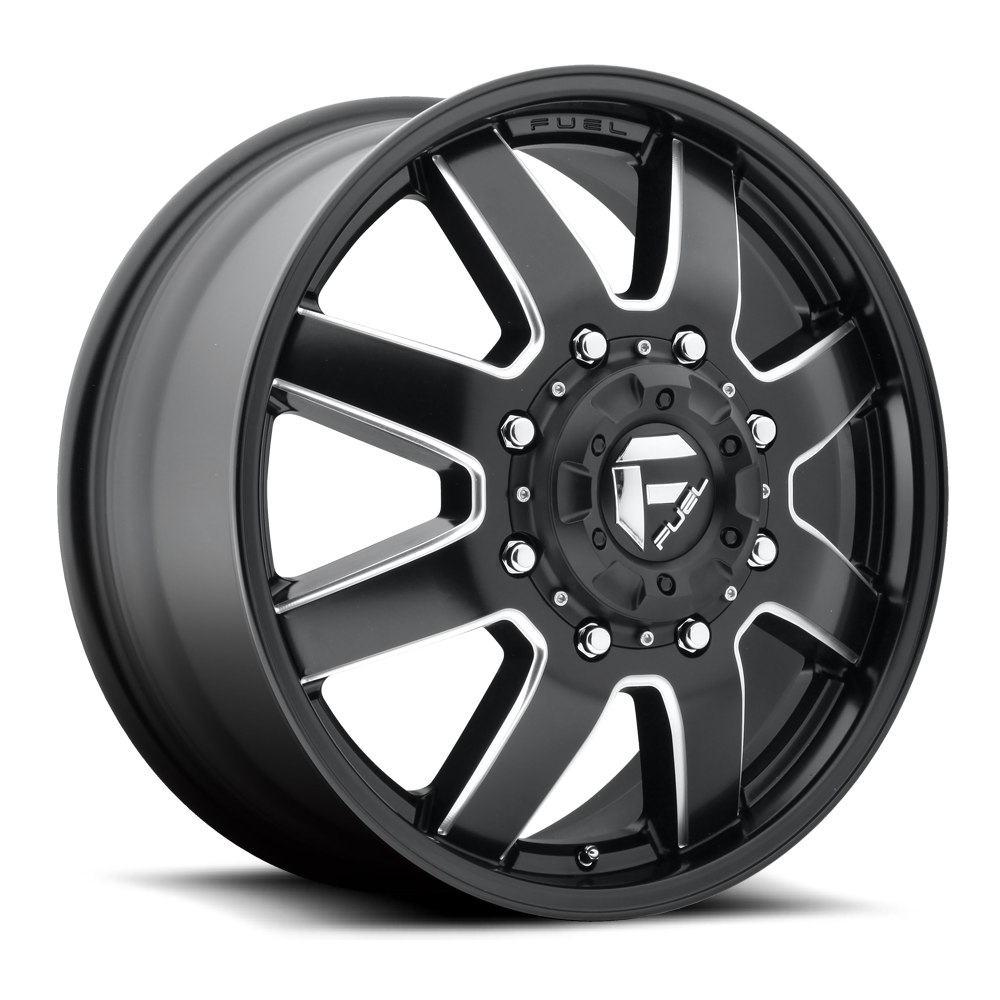 Fuel Offroad Wheels Fuel Offroad D538 Maverick Dualie Front Black and Milled