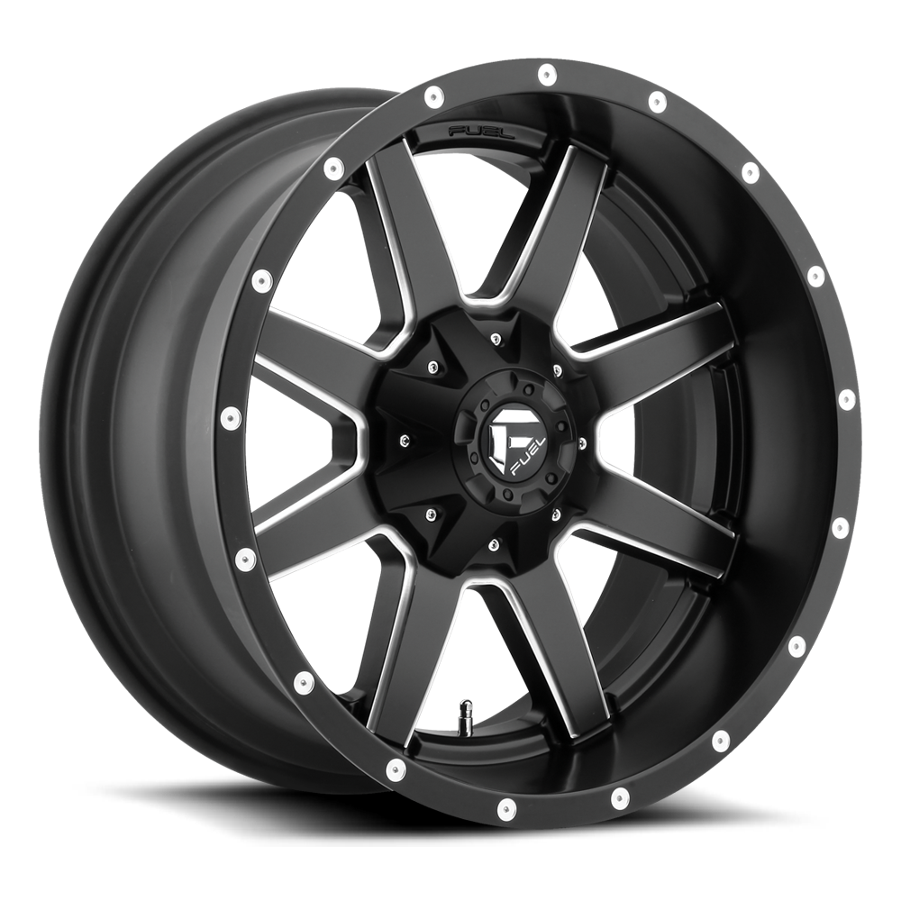 17x10 Fuel Offroad Wheels Fuel Offroad D538 Maverick Black and Milled