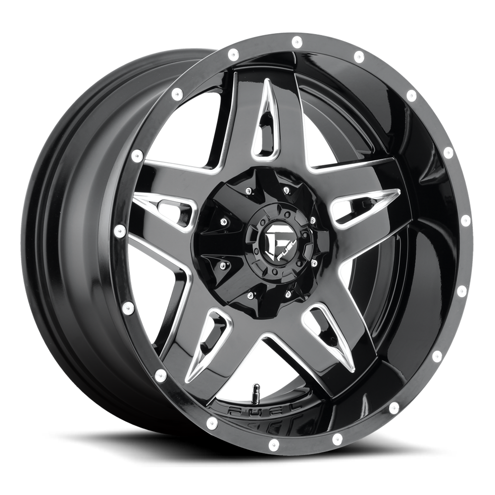 20x12 Fuel Offroad Wheels Fuel Offroad D554 Full Blown Black and Milled