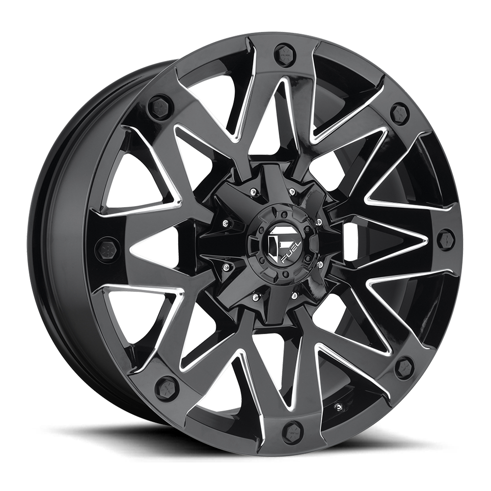 Fuel Offroad D555 Ambush Black and Milled