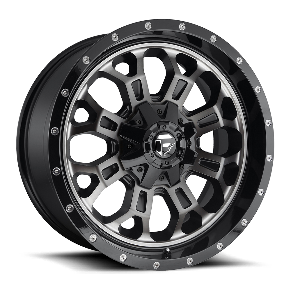 Fuel Offroad Wheels Fuel Offroad D561 Crush Black/Machine with Dark Tint