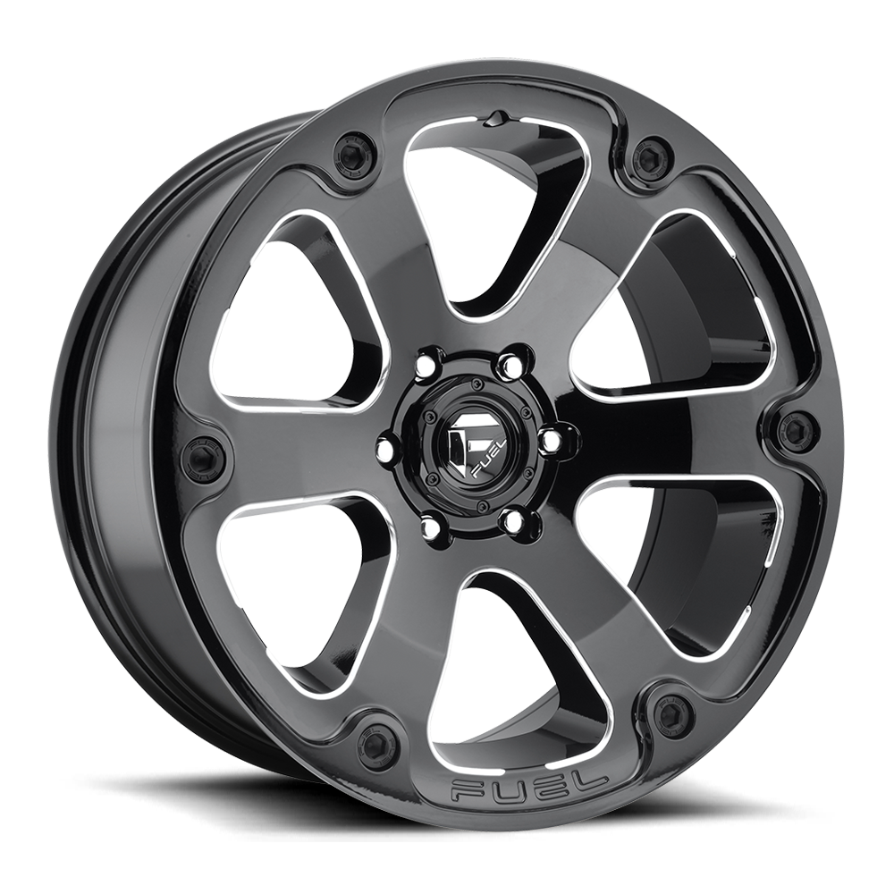 Fuel Offroad Wheels Fuel Offroad D562 Beast Black and Milled