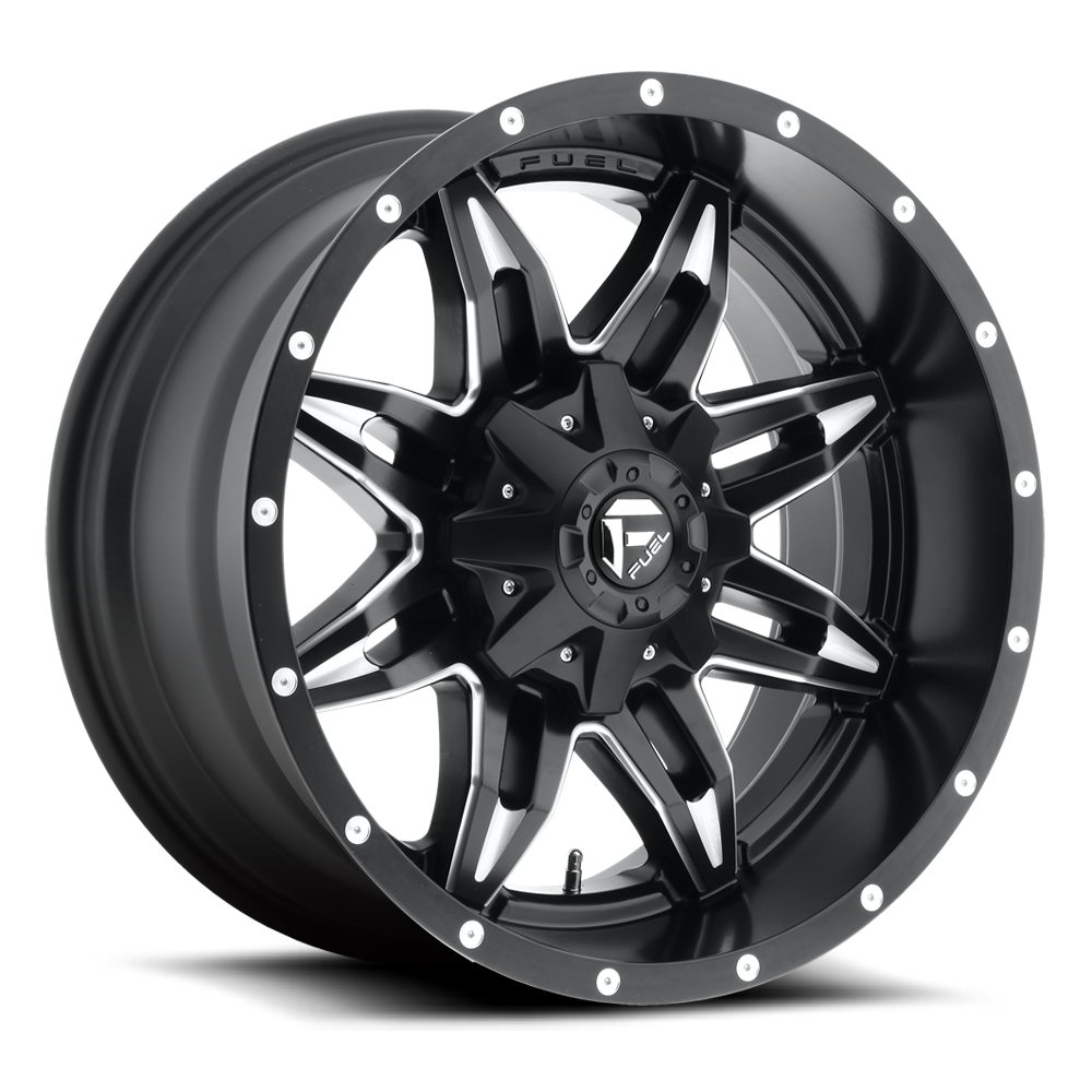 20x10 Fuel Offroad Wheels Fuel Offroad D567 Lethal Black and Milled
