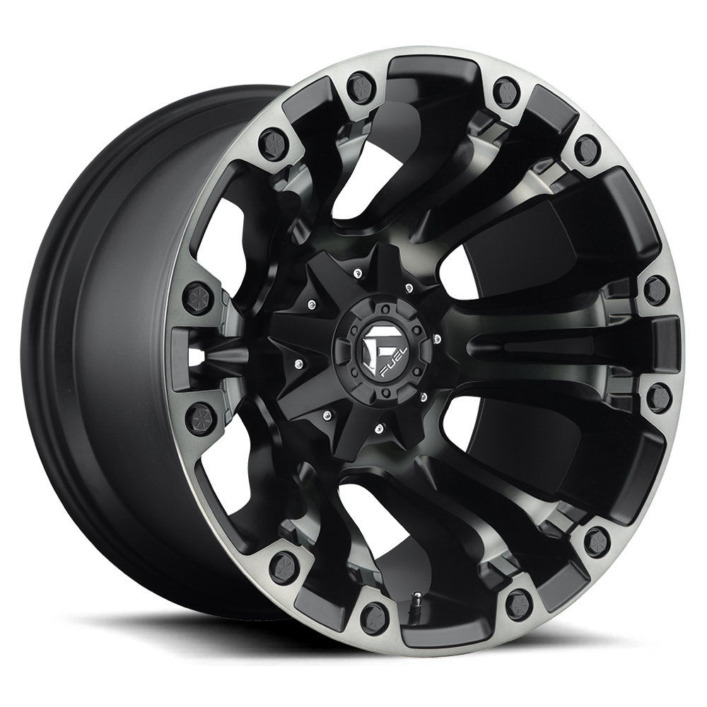 20x10 Fuel Offroad Wheels Fuel Offroad D569 Vapor Black/Machine with Dark Tint