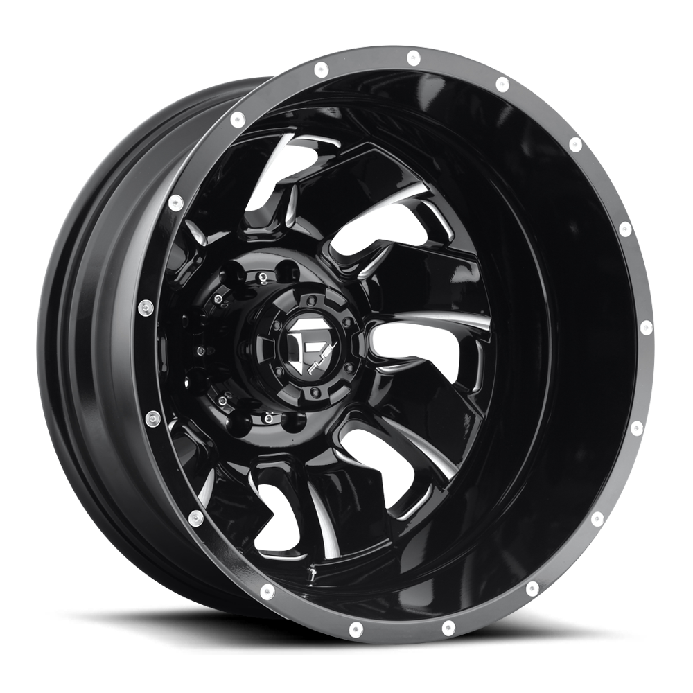 Fuel Offroad Wheels Fuel Offroad D574 Cleaver Dualie Rear Black and Milled