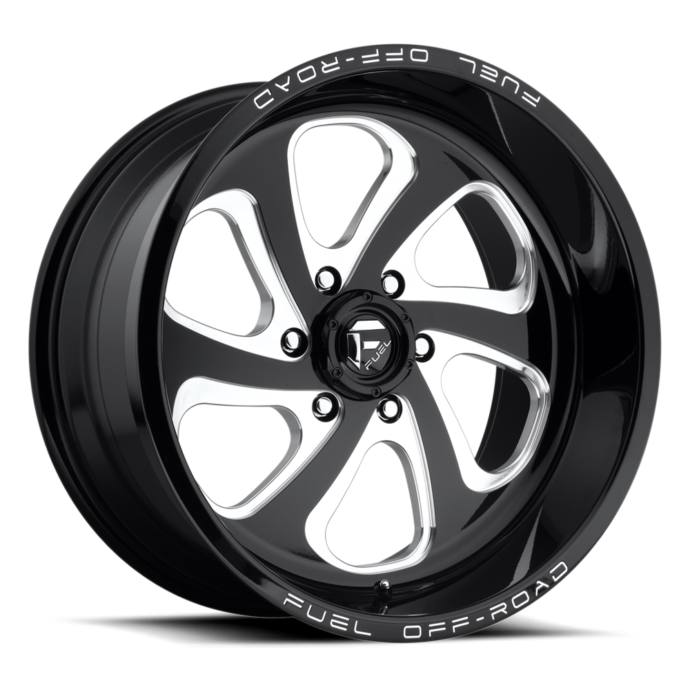 Fuel Offroad Wheels Fuel Offroad D587 Flow Black and Milled