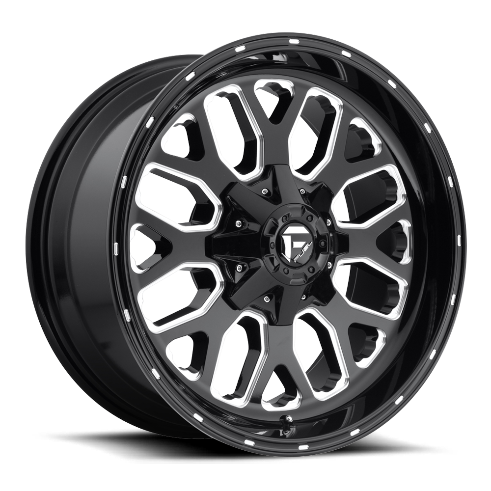 Fuel Offroad Wheels Fuel Offroad D588 Titan Black and Milled