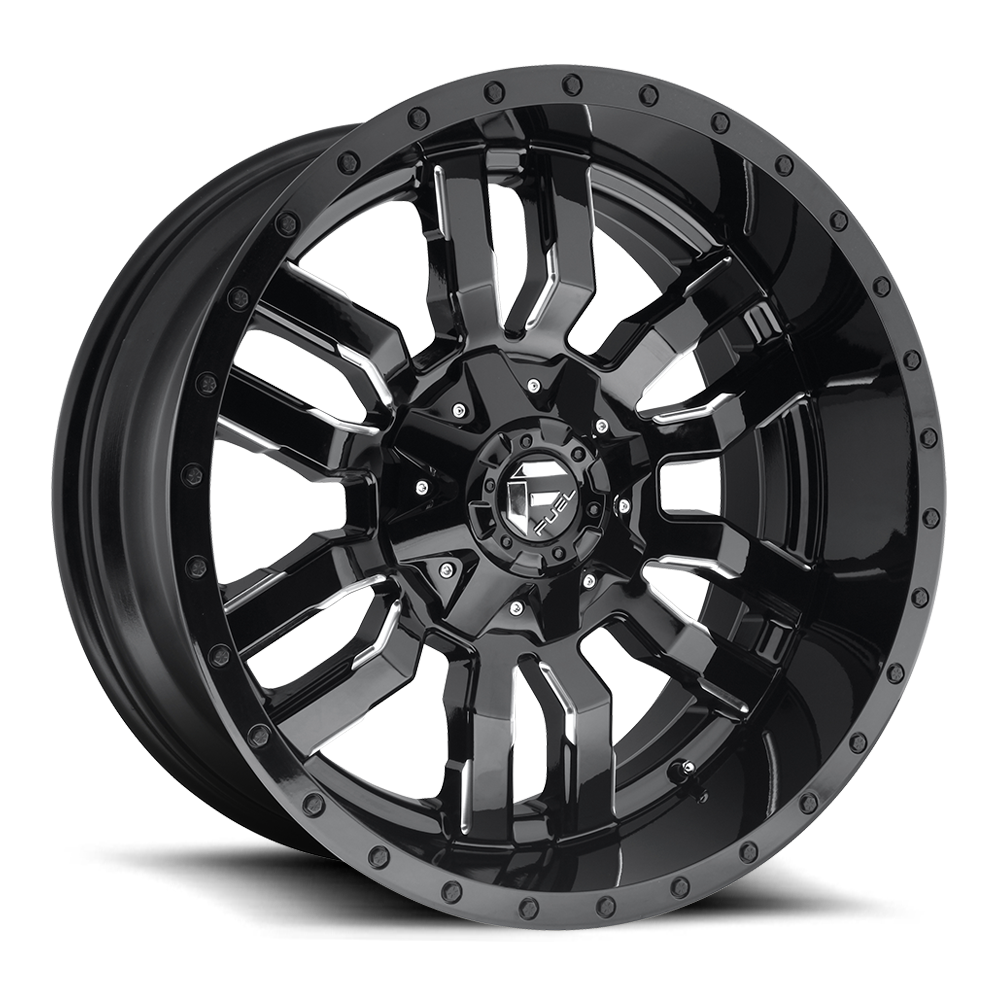 20x12 Fuel Offroad Wheels Fuel Offroad D595 Sledge Black and Milled