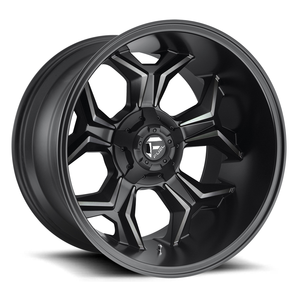 Fuel Offroad Wheels Fuel Offroad D605 Avenger Black and Machine with Dark Tint