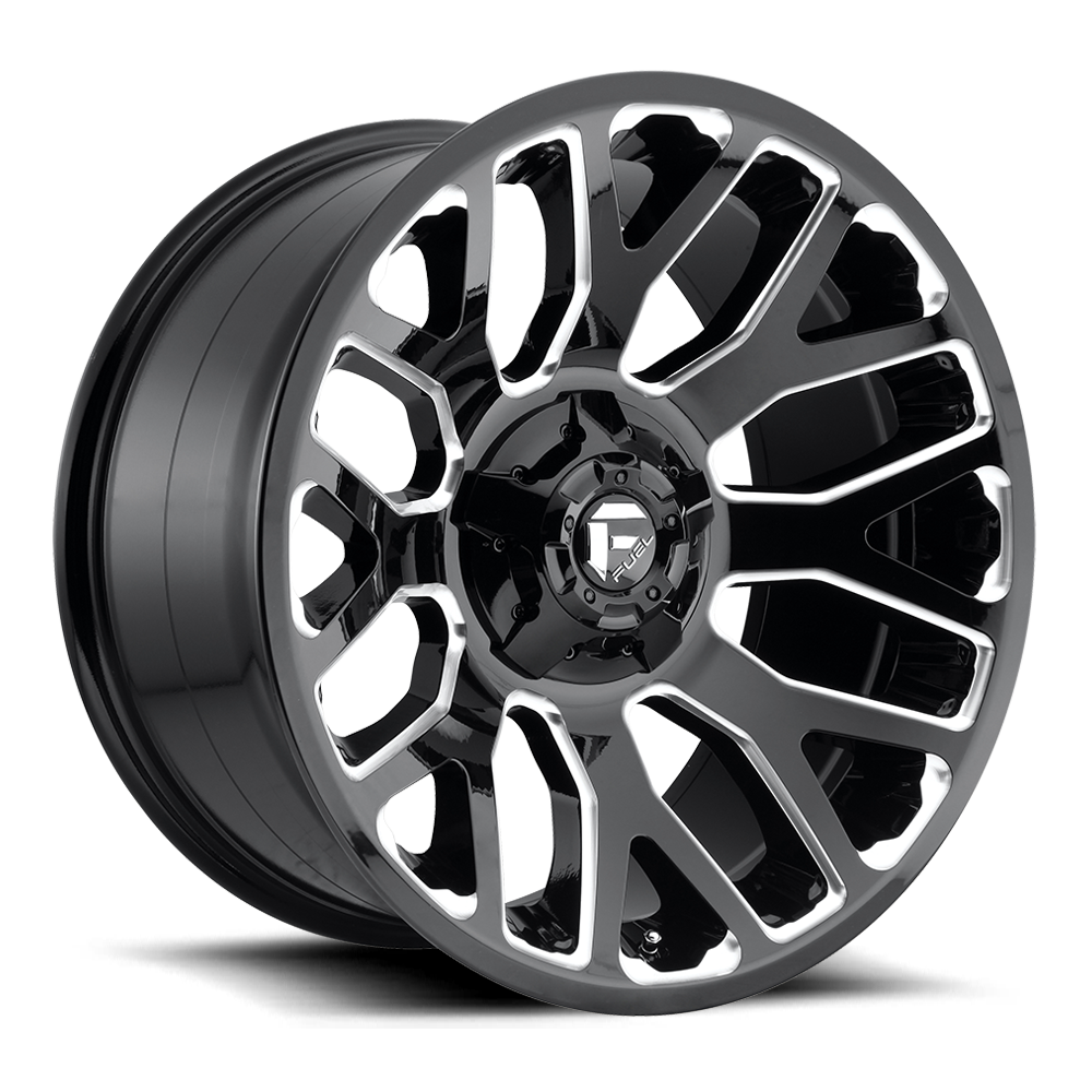 Fuel Offroad Wheels Fuel Offroad D607 Warrior Black and Milled