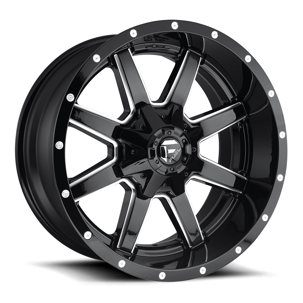 Fuel Offroad Wheels Fuel Offroad D610 Maverick Black and Milled