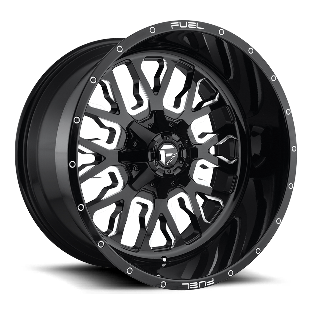 Fuel Offroad Wheels Fuel Offroad D611 Stroke Black and Milled