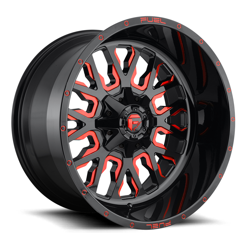 Fuel Offroad Wheels Fuel Offroad D612 Stroke Black with Candy Red