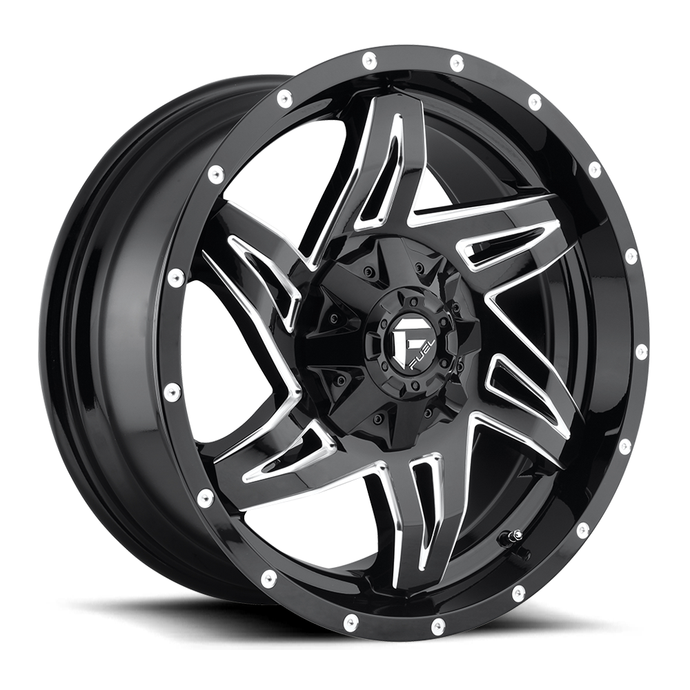 Fuel Offroad Wheels Fuel Offroad D613 Rocker Black and Milled