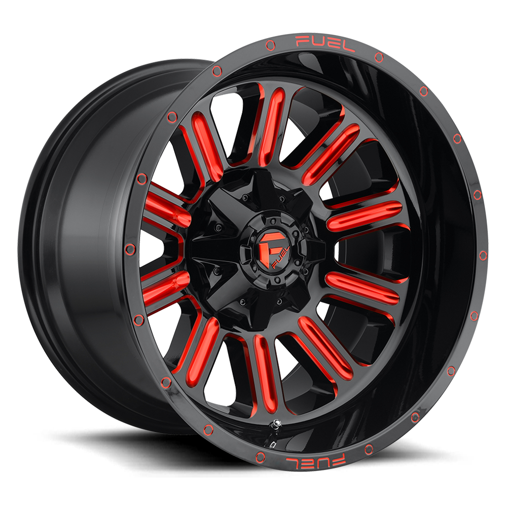 Fuel Offroad D621 Hardline Black with Candy Red