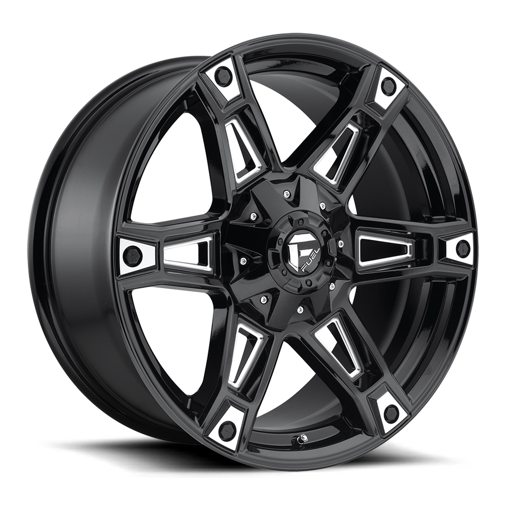 Fuel Offroad Wheels Fuel Offroad D622 Dakar Black and Milled