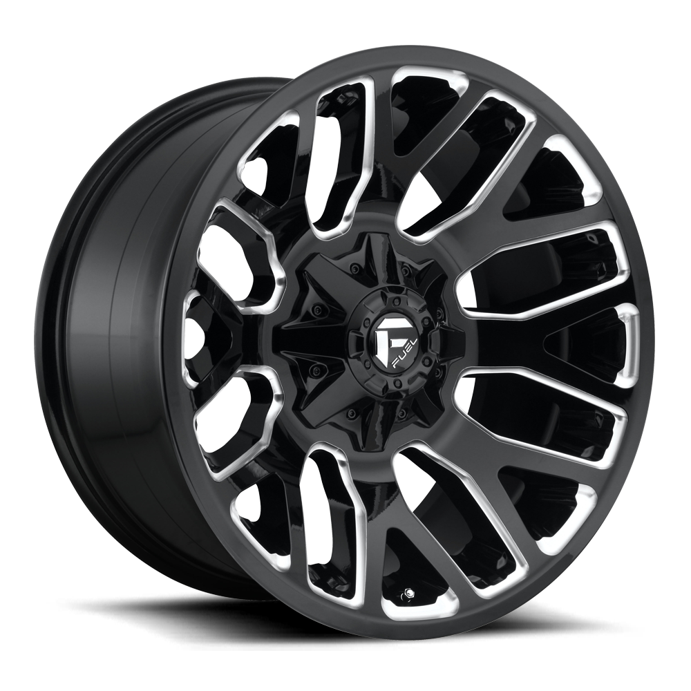 Fuel Offroad Wheels Fuel Offroad D623 Warrior Black and Milled