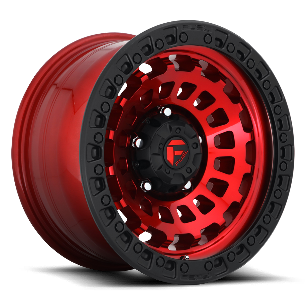 Fuel Offroad Wheels Fuel Offroad D632 Zephyr Candy Red with Matte Black Ring