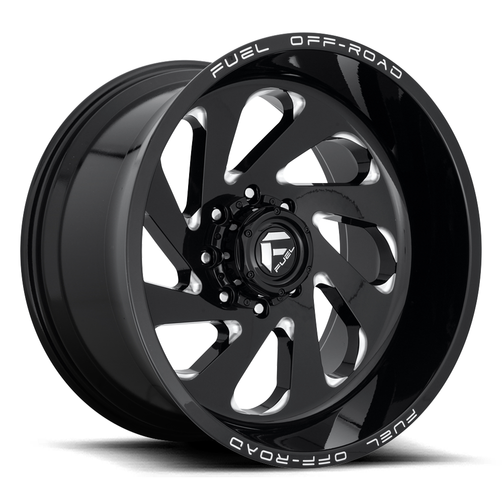 Fuel Offroad Wheels Fuel Offroad D637 Vortex Black and Milled