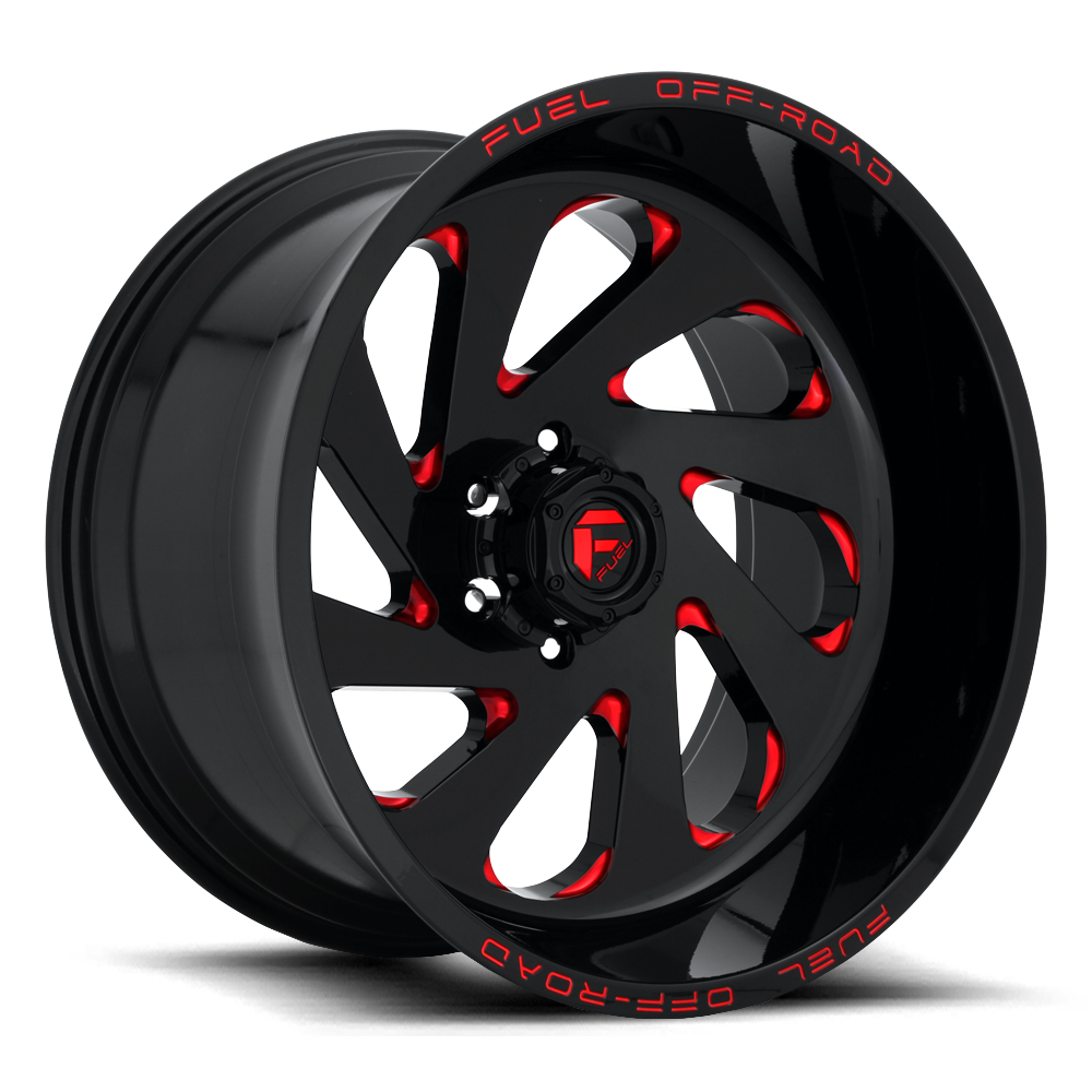 Fuel Offroad Wheels Fuel Offroad D638 Vortex Black with Cany Red