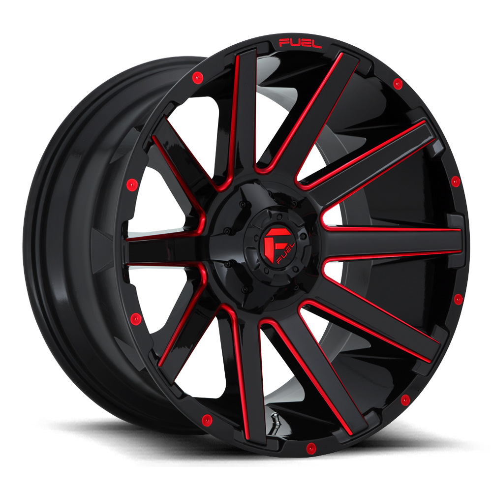 Fuel Offroad Wheels Fuel Offroad D643 Contra Black with Candy Red
