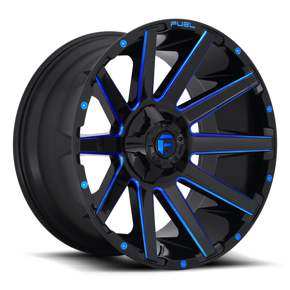 Fuel Offroad Wheels Fuel Offroad D644 Contra Black with Candy Blue