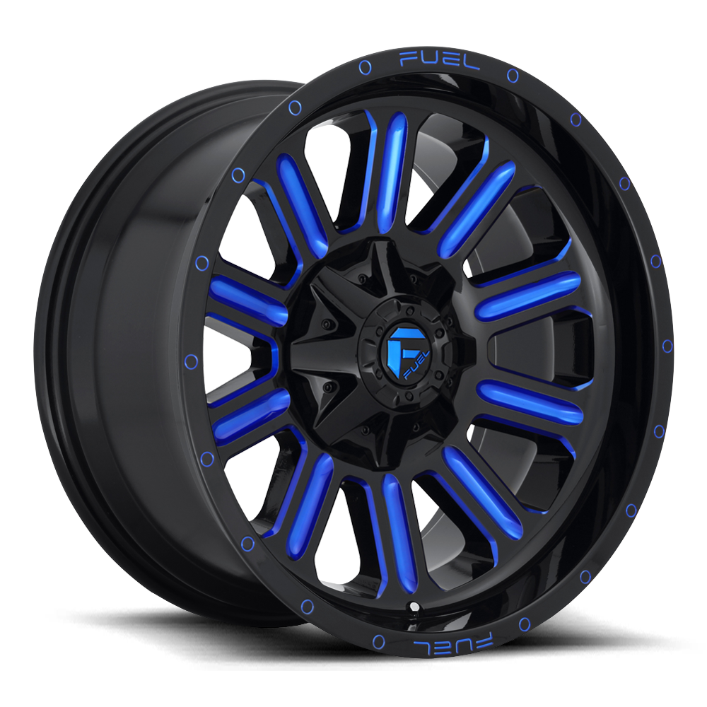 Fuel Offroad Wheels Fuel Offroad D646 Hardline Black with Candy Blue