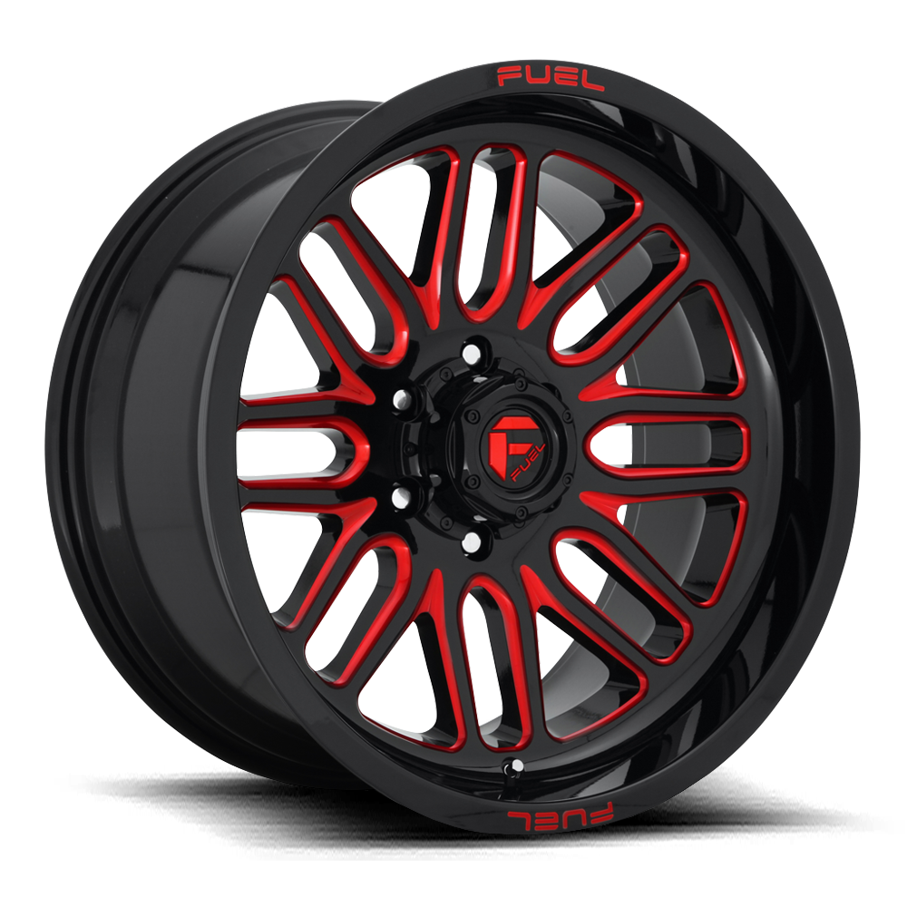 Fuel Offroad Wheels Fuel Offroad D663 Ignite Black with Candy Red