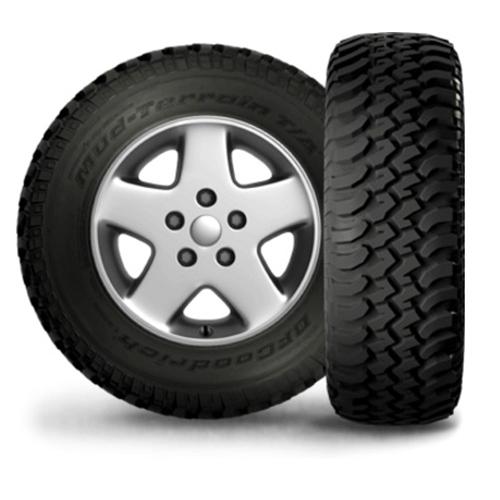 255/75R17 BF Goodrich Tires Mud Terrain T/A KM