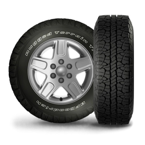 275/55R20 BF Goodrich Tires Rugged Terrain T/A