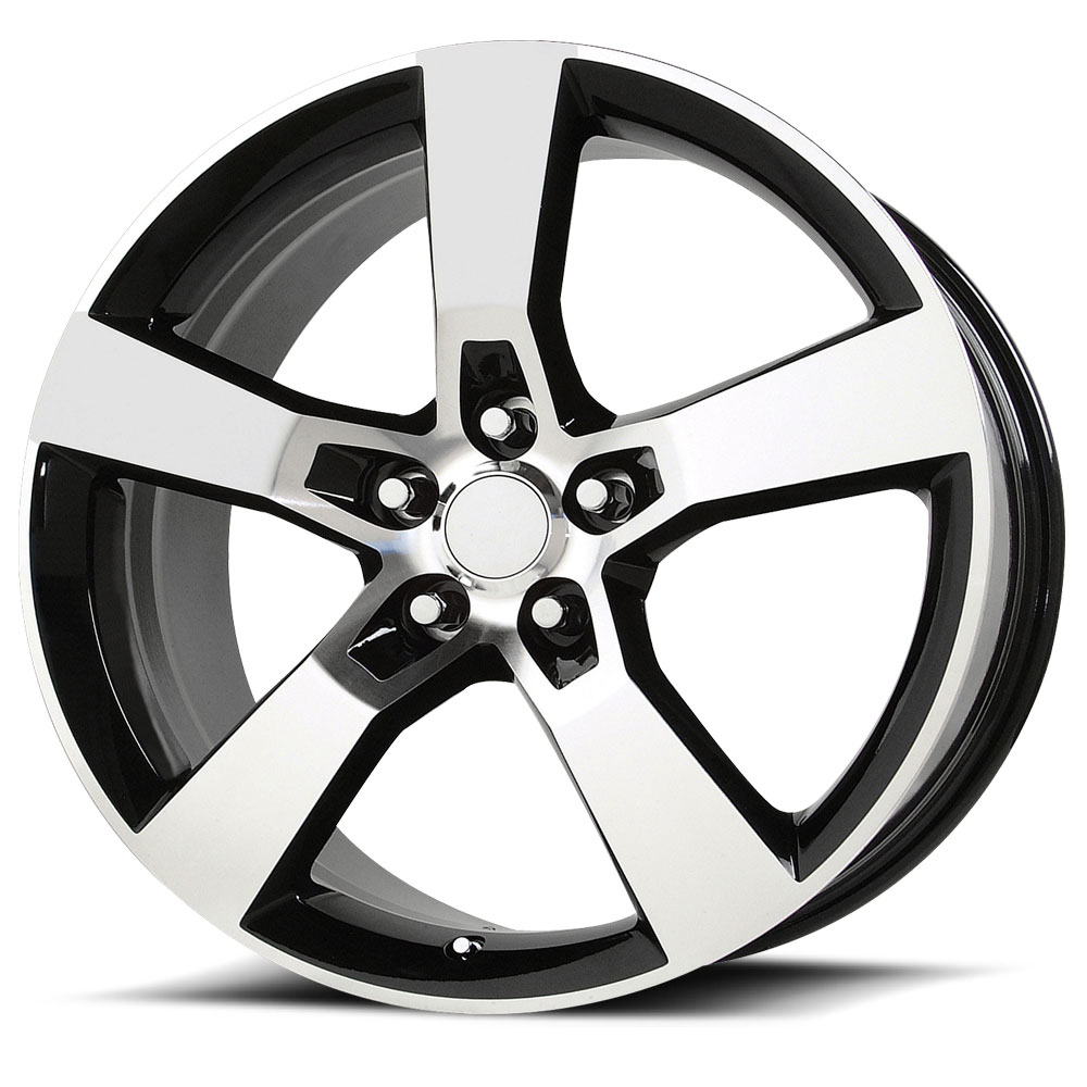 OE Creations Replica Wheels PR124 Gloss Black/Machined Spokes And Lip