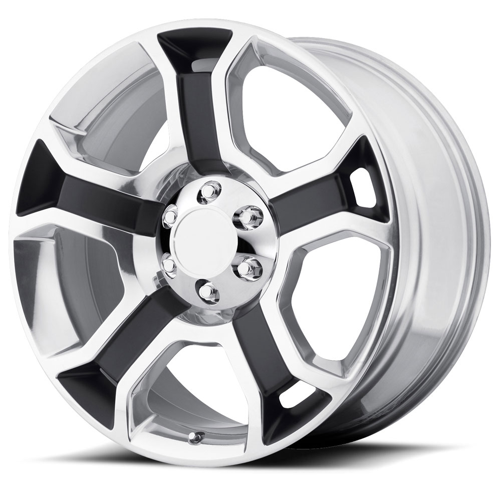 OE Creations Replica Wheels PR127 Gloss Black/Polished Spokes & Lip