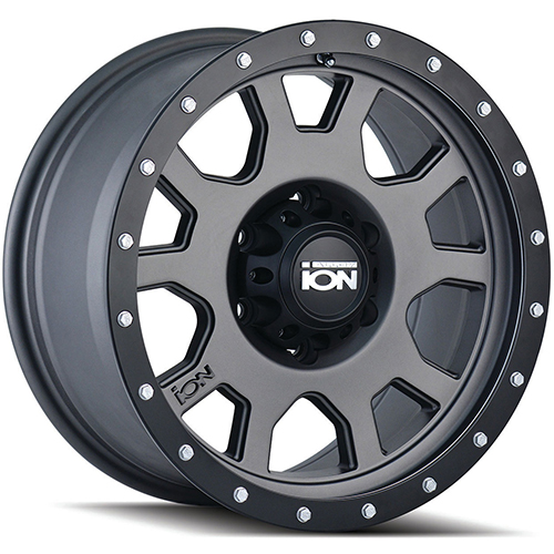 ION Wheels 135 Matte Gunmetal Black Beadlock