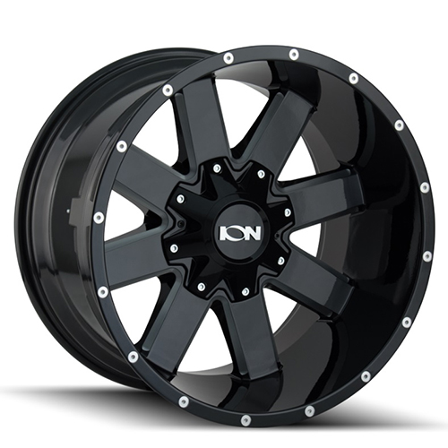 ION Wheels 141 Gloss Black Milled Spokes