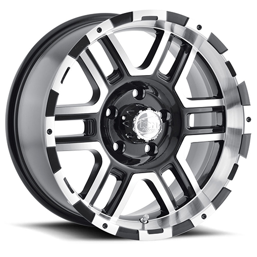 ION Wheels 179 Black Machined Face Machined Lip